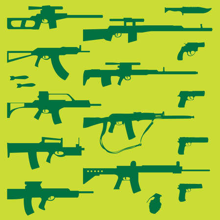 set of weapons Stock Vector - 6363954