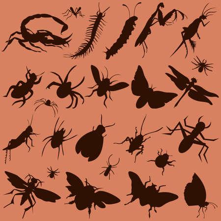 set of bugs Stock Vector - 6363955