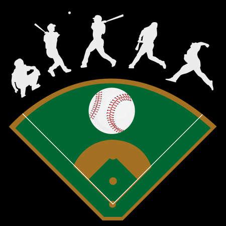 野球のコレクション  イラスト・ベクター素材