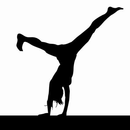 gimnastas: salto mortal Vectores