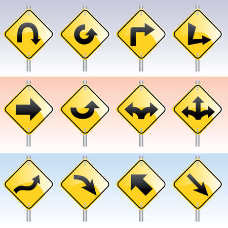direction signs Stock Vector - 6292301