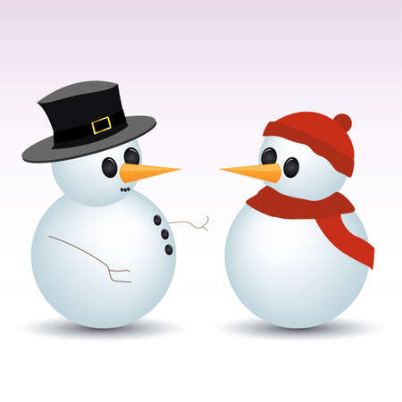 snowmen Stock Vector - 6347271