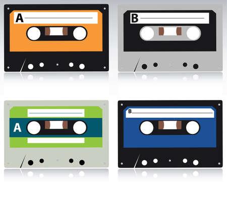 vector cassette set Stock Vector - 6347260