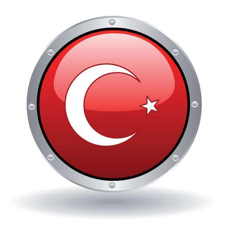 vector flag of turkey 矢量图像