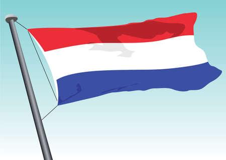vector flag of holland Vector