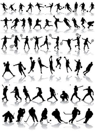 vector sport silhouettes Vector