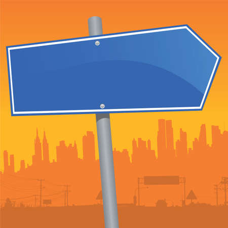 anywhere: vector direction sign Illustration