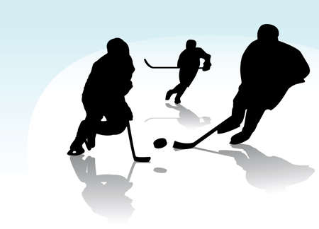 ice hockey players Stock Vector - 6347292