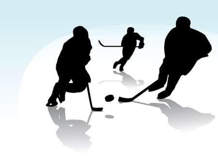 ice hockey players Stock Vector - 6347292