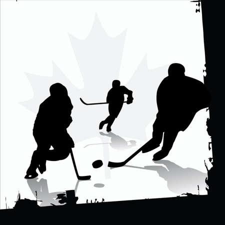 vector ice hockey players Vector