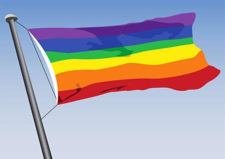 vector rainbow flag Stock Vector - 6363956