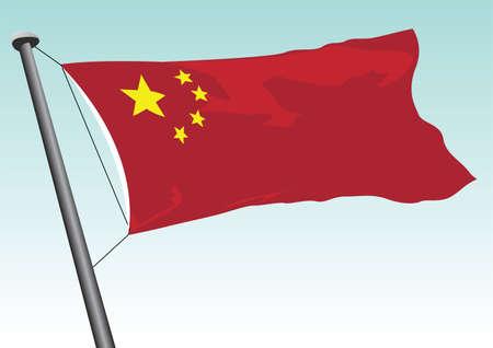 vector flag of china