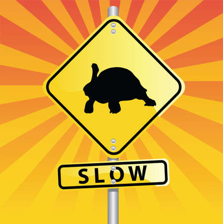 turtle road sign Vector