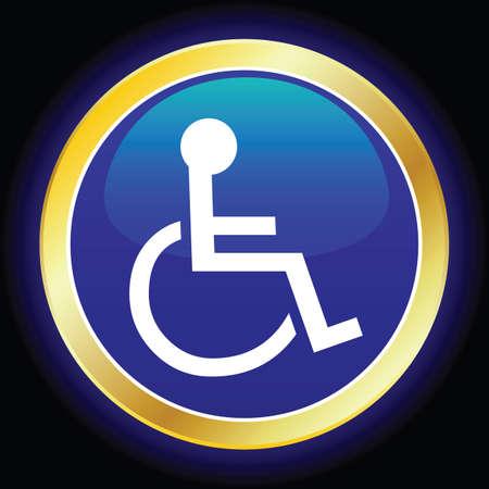 wheelchair symbol Stock Vector - 6442364