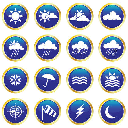 weather icons Stock Vector - 6442377