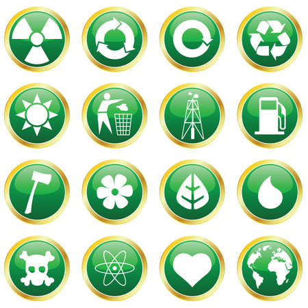 environmental icons Stock Vector - 6442373