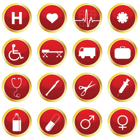 medical icons Stock Vector - 6442372