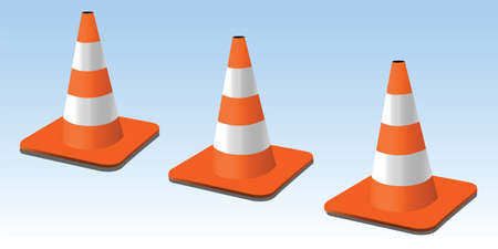 obstacle course: traffic cones