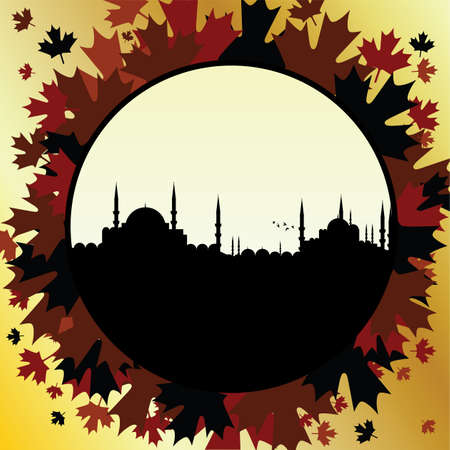 fall in istanbul Stock Vector - 6442367