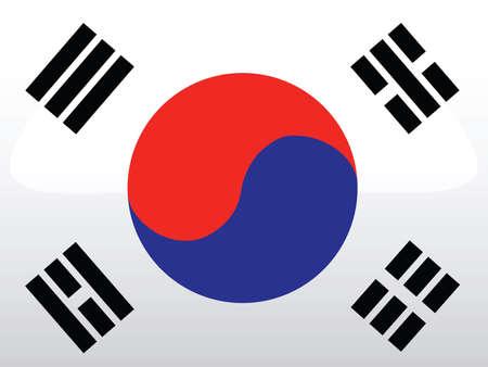 south east asia: bandiera della Corea  Vettoriali