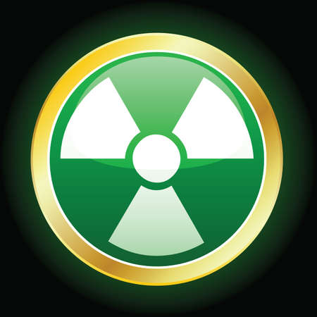 radioactive icon Stock Vector - 6442365