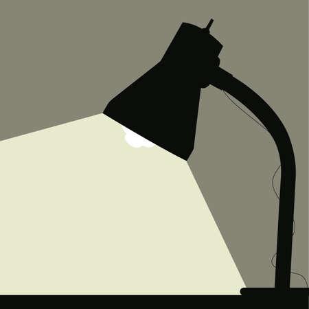 spotlight lamp: Lampada da tavolo  Vettoriali