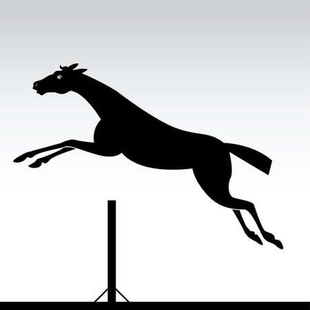horse jumping Stock Vector - 6442384