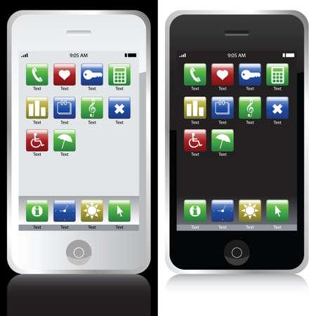 mobile phones Stock Vector - 6442389