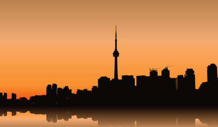silhouette of Toronto Vector