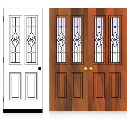 deuren Vector Illustratie