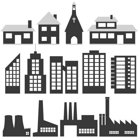 buildings Stock Vector - 6489844