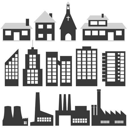 gebouwen  Stock Illustratie