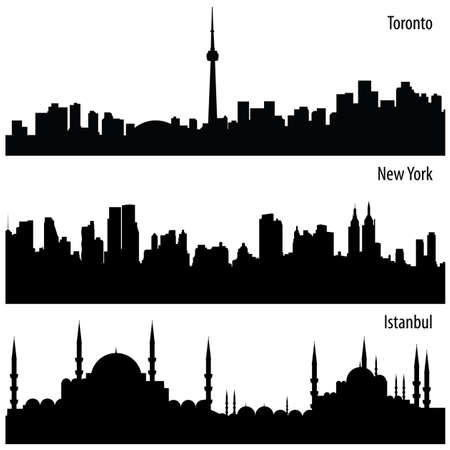 cityscape collection Stock Vector - 6707467