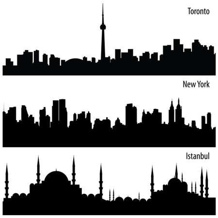 cityscape collection Vector