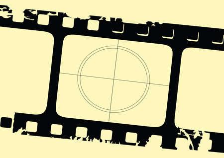grunge filmstrip  イラスト・ベクター素材