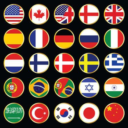 web taal pictogram, collectie Stock Illustratie