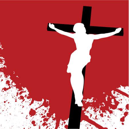jesus on cross: Ges� Cristo Vettoriali