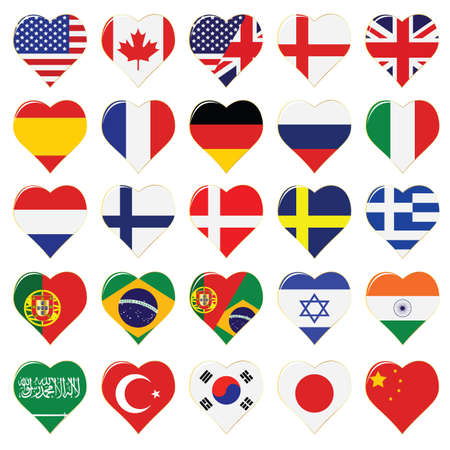 language icon set Stock Vector - 7080343