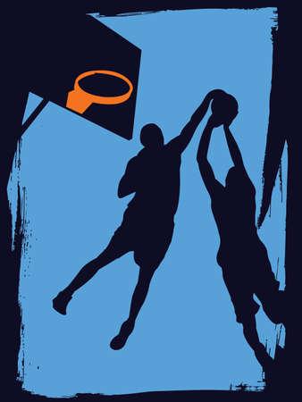 basketball players Stock Vector - 7080282