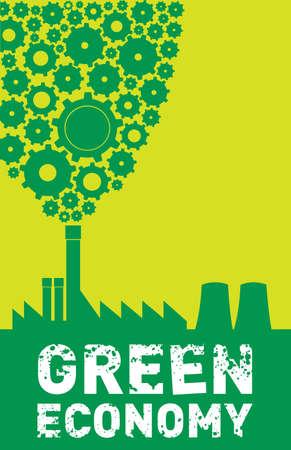green economy: green economy Illustration