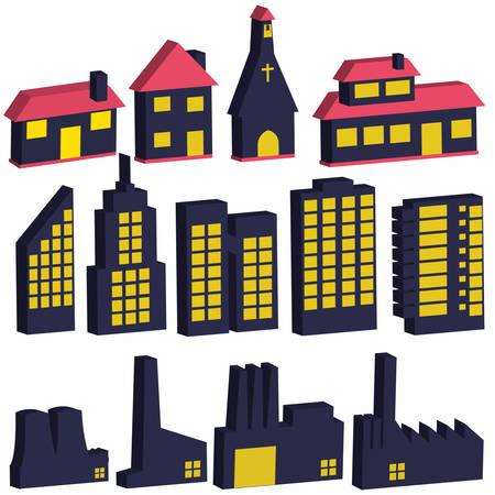 building illustrations Stock Vector - 7080278