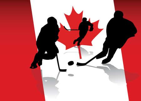 Canadezen Stock Illustratie