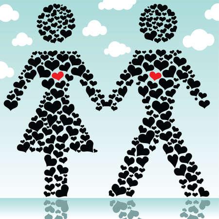 couple in love Stock Vector - 7080332