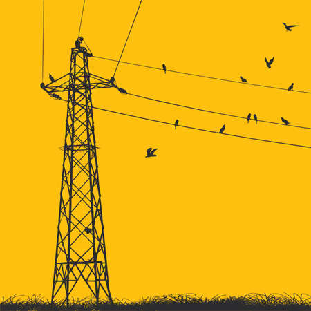 hoogspanningsmasten: elektriciteit pyloon