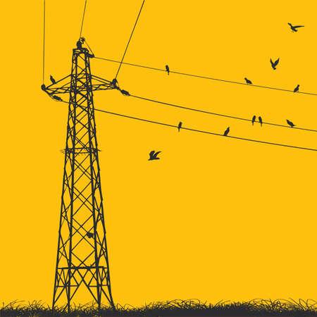 torres de alta tension: pil�n de electricidad