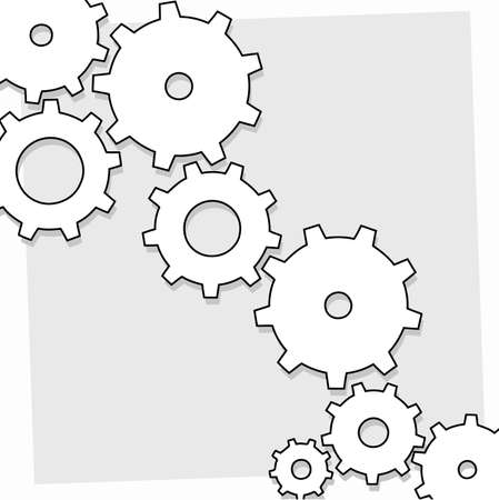 mechanical symbols: cogwheels