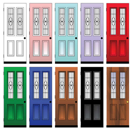 modern living room: doors Illustration