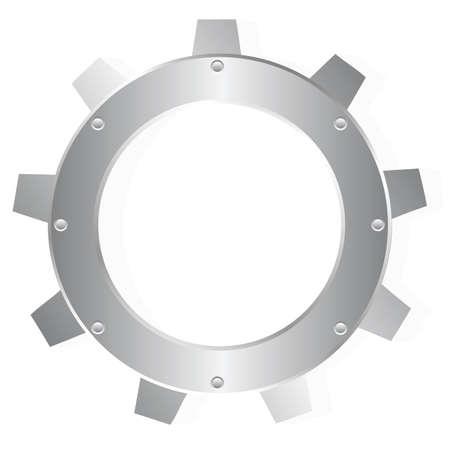 spinning factory: cogwheel Illustration