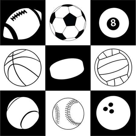 billiard balls: balls Illustration