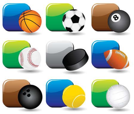 sport balls Stock Vector - 7414579